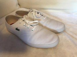 Lacoste Sneaker leichte Schuhe weiß sportlich Gambetta