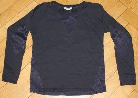Lacoste Sweatshirt schwarz Gr 38 Stretch-Einsätze Pulli Pullover Krokodil