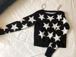 FB Sister Wollen trui zwart-wit