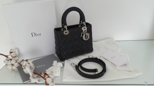 Dior Crossbody bag black-light grey leather