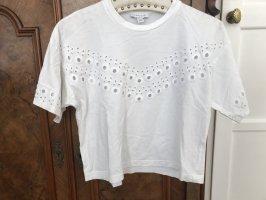 Topshop Camisa recortada blanco