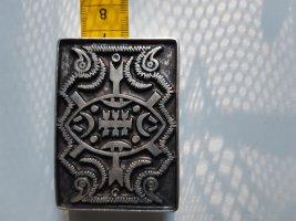 Unbekannte Marke Belt Buckle silver-colored-black metal