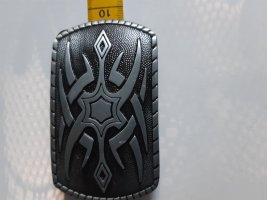Unbekannte Marke Braided Belt grey-black metal