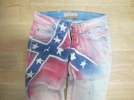 Galliano Jeans vita bassa multicolore