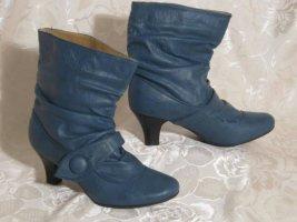 Lässige Slouch Stiefel Pumps Boots Blau 37