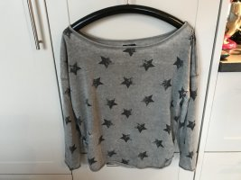 Lässiger Pullover mit Sternendruck