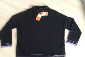 Trussardi Oversized Sweater black-mauve mixture fibre