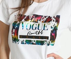 Lässiges Italy Shirt - White/Color - Vogue! Print/Glanz - OneSize