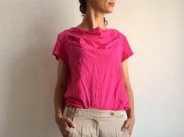 Tranquillo Koszulka z dekoltem woda różowy-magenta