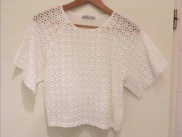 Lässiges Shirt mit Lochspitze von ZARA in Größe M (38)