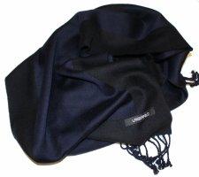 Karl Lagerfeld Woolen Scarf black-blue mixture fibre