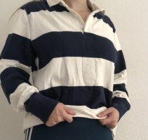Lands' End Cardigan en maille fine blanc-bleu foncé