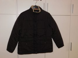 Lands' End Quilted Jacket dark brown nylon