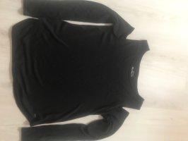 Hollister Sweter bez rękawów z cienkiej dzianiny czarny
