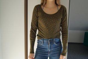 Langärmliger Pullover mit V-Ausschnitt