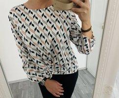 Langarm Bluse Chic / Mango Premium Suit / S 36 M 38 / Mng Basic Casual Schwarz Weiß Taupe Rose