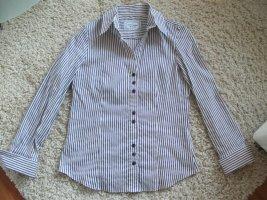 Langarm Bluse von Gerry Weber, Gr. 38, lila-weiß gestreift