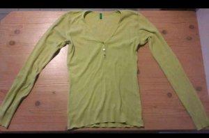 Benetton Longsleeve pale green cotton