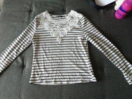 Shine Sweat Shirt white-dark blue