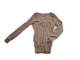 Langarmshirt mit Spitzenapplikation