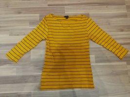 Amisu Stripe Shirt gold orange cotton
