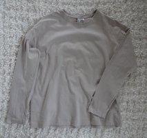 H&M Camisa holgada beige claro-gris