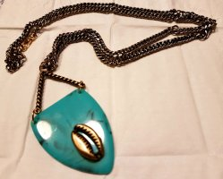 Necklace gold-colored-turquoise