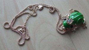 Naszyjnik złoto-zielony