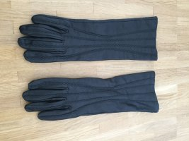 Armani Jeans Gants en cuir noir cuir