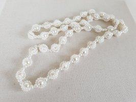 Lange Weiße Perlen Kette Halsschmuck Halskette Schmuck
