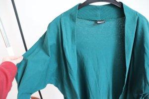 Langer Cardigan grün/blau Gr. S