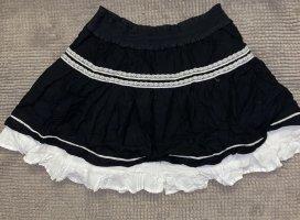 H&M Balonowa spódniczka czarny-biały