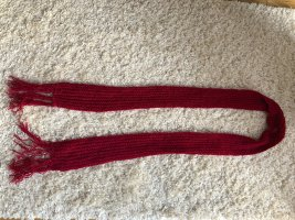 Crochet Scarf neon red