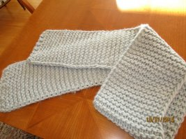 Knitted Scarf azure wool