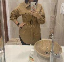 Camicia a maniche lunghe marrone chiaro