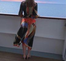 Boutique Sukienka z długim rękawem czerwony-ciemnozielony