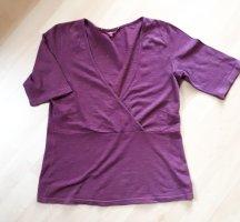 Lanius Shirt mit Hanf, Wickeloptik, Gr. 38