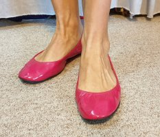 Lanvin Ballerina di pelle verniciata magenta