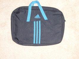 Laptop- Notebook-Tasche von Adidas schwarz /Türkis