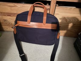 Kiomi Laptop bag dark blue-cognac-coloured