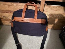 Kiomi Laptop bag dark blue-cognac-coloured
