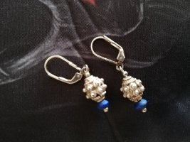 Silver Earrings silver-colored-blue