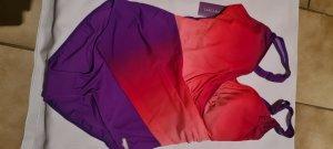 LASCANA Badeanzug Flieder- Pink Gr. 44F,mit Farbverlauf in Wickeloptik, swimsuit