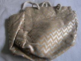 Lascana Shopper Handtasche Stoff beige silber