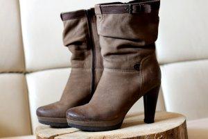 Lasocki Winter Booties brown-light brown leather