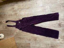 Carhartt Salopette violet foncé velours côtelé