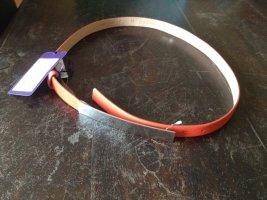 Fibbia per cinture arancione-argento