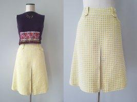 Laurèl Spódnica midi w kolorze białej wełny-żółty Len