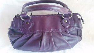 Laurèl Tasche lila mit Falten Reißverschluss Vintage