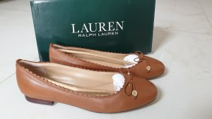 Lauren by Ralph Lauren Baleriny Mary Jane jasnobrązowy-cognac
